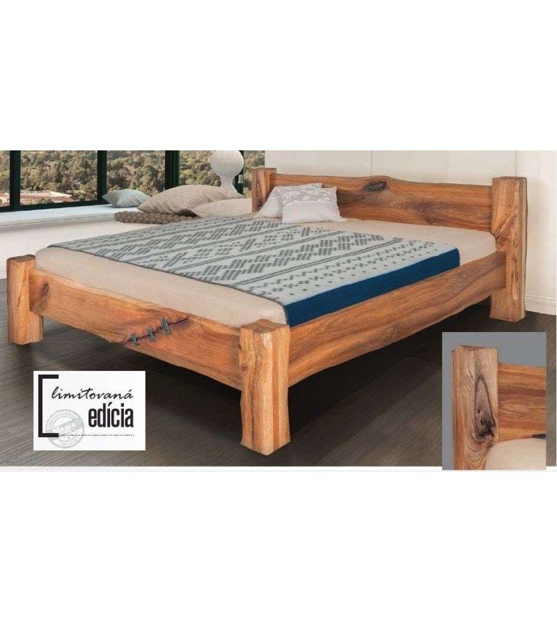 b02a66158f90a MRAVA DANTE Manželská postel z Brestového dreva