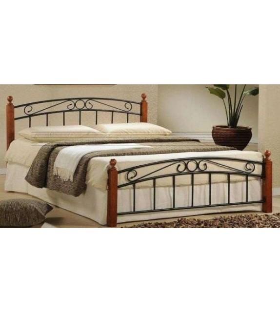 TK DOLORES 140 kovová manželská postel s lamelovým roštom