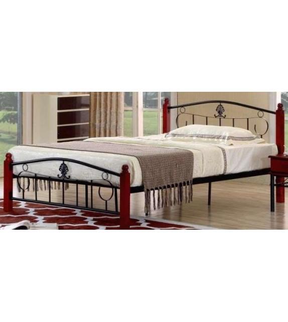 TK MAGENTA 140 kovová manželská postel s lamelovým roštom