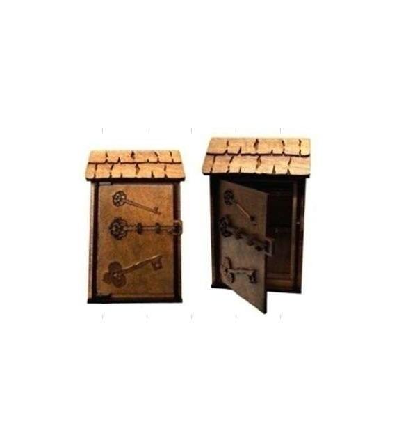 Drevená Skrinka na klúče H-002 domček