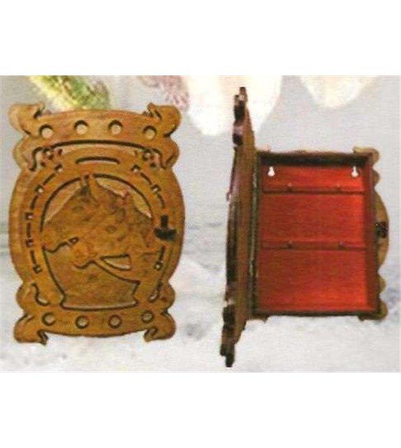 Drevená Skrinka na klúče H-004 kôň