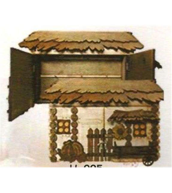 Drevená Skrinka na klúče H-005 domček