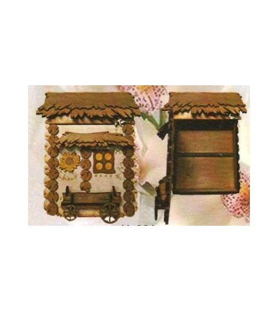 Drevená Skrinka na klúče H-006 domček