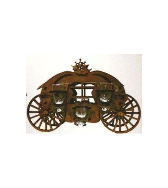 Drevená dekorácia s pohárikmi B-009 koč