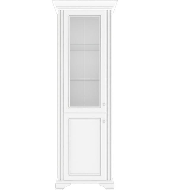 WIP WHITE 010 Vitrína 1D1W sektorový nábytok do obývačky