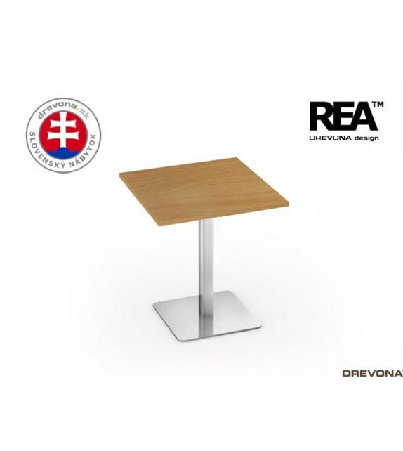 DREV REA FLAT 3 Kaviarenský stolík s podnožou