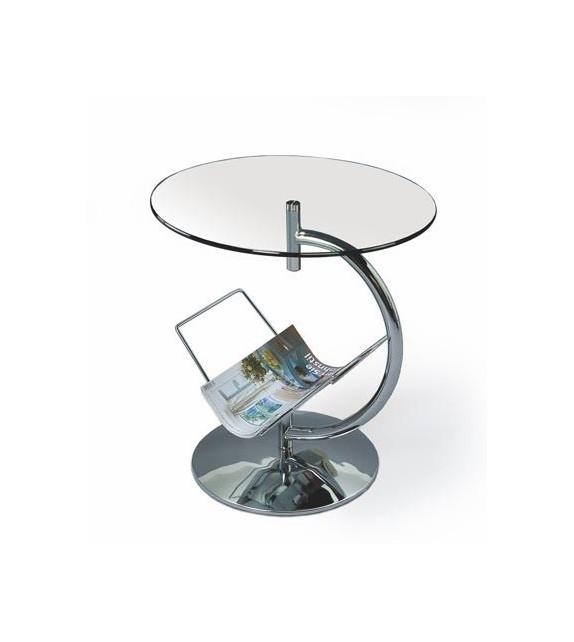 BRW ALMA Príručný stolík sklenený