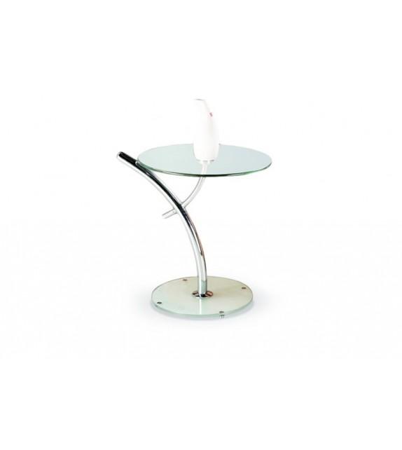 HALMAR IRIS príručný stolík sklo