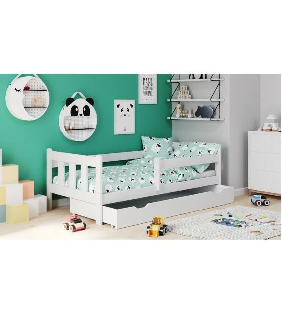BRW MARINELLA Detská posteľ s bočnou ohradkou 160x80
