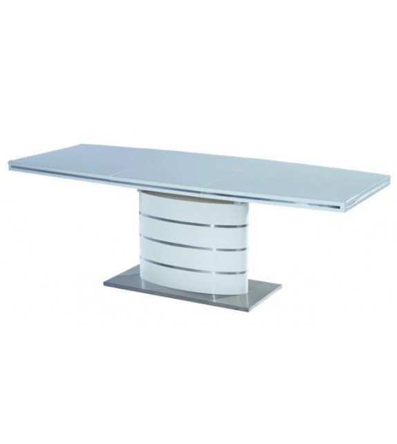 BRW FANO Jedálenský stôl biely moderný rozkladací