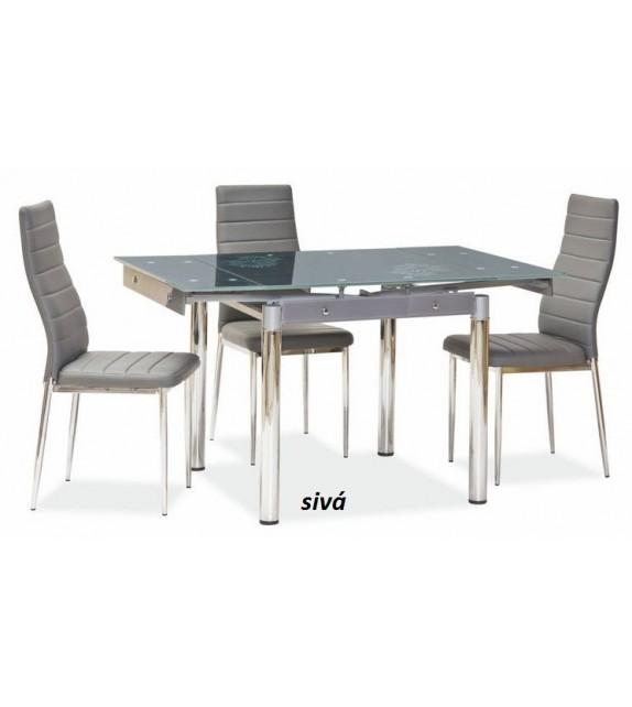 BRW GD-082 Jedálenský stôl rozkladací sklenený 80