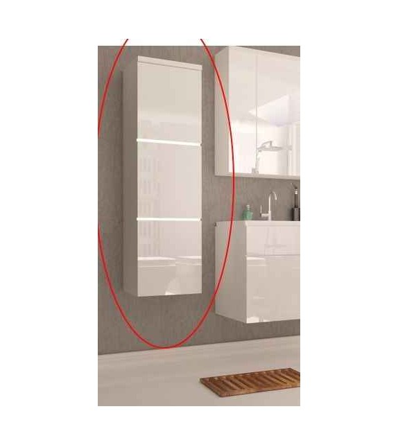 TK MASON WH11 skrinka vysoká závesná kúpeľňový sektorový nábytok Lesk