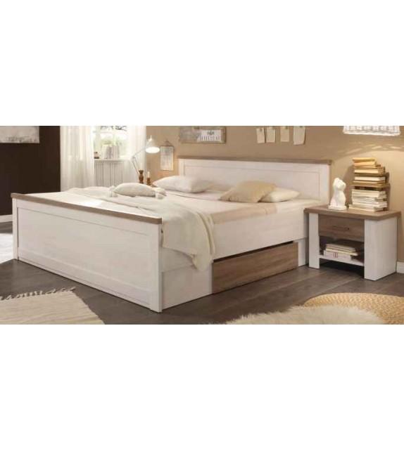 TK LUMERA manželská postel 160 so zásuvkami s nočným stolíkom