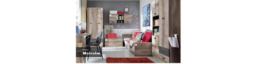BRW MALCOLM študentský sektorový nábytok