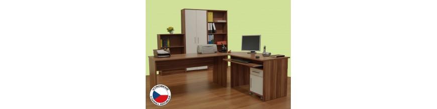 TK JOHAN NEW Kancelársky sektorový nábytok slivka