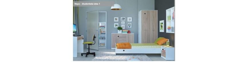 BRW NEPO spálňový sektorový nábytok