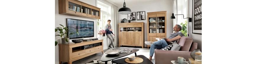 BRW BERGEN sektorový nábytok do obývačky