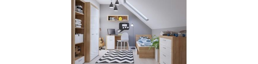 BRW BALDER sektorový nábytok do študentskej izby