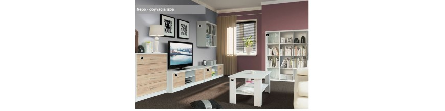BRW NEPO sektorový nábytok do obývačky