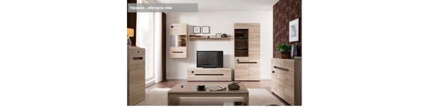 BRW ELPASSO sektorový nábytok do obývačky