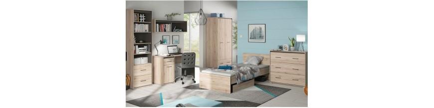 BRW RONSE sektorový nábytok do študentskej izby