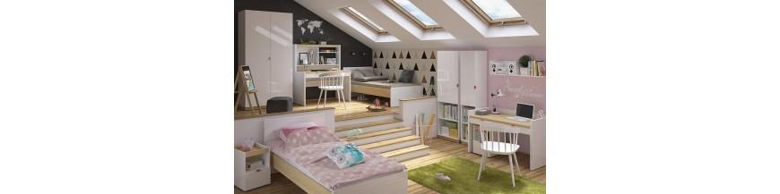BRW PRINCETON Detský sektorový nábytok