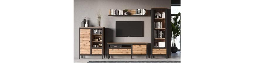 BRW LOFT Obývací sektorový nábytok