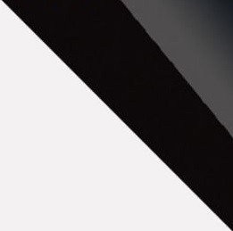 biela/čierny lesk